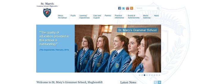 Screenshot of St Mary's Grammar School Magherafelt website