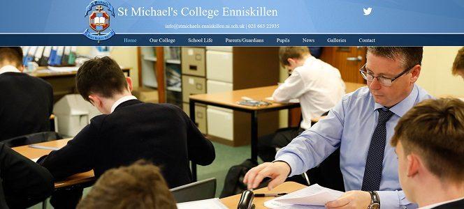 Screenshot of St Michael's College Enniskillen website
