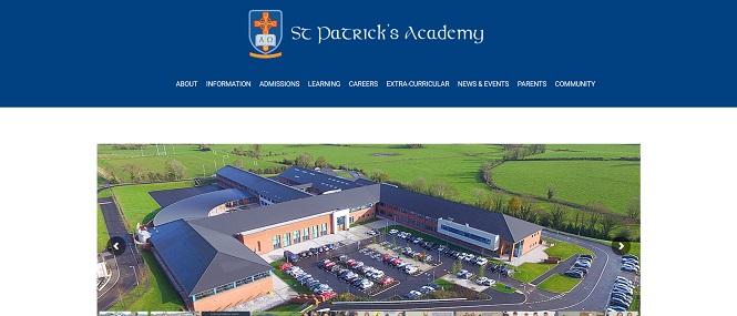 Screenshot of St Patrick's Academy, Dungannon website