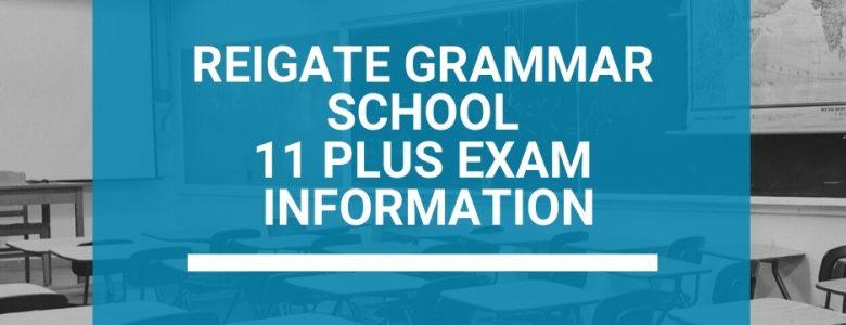 Reigate Grammar School 11 Plus Exam Information