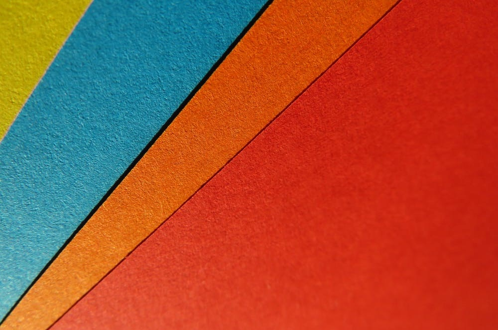 Photo of coloured cards