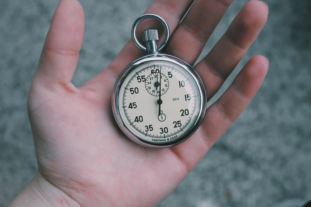 Photo of a stopwatch