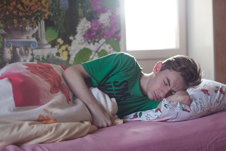 Photo of a student sleeping