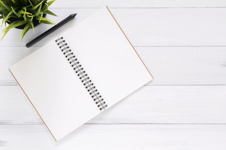 Photo of a notebook
