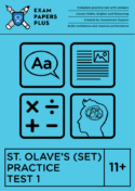 11+ St. Olave's (SET) exam preparation
