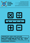 11+ Perimeter, Area & Volume pack in the standard format